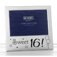 'Sweet 16' Happy 16th Birthday Silver Plated Photo Frame
